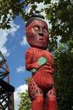 毛利人的雕刻 库存照片