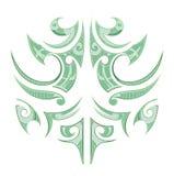 毛利人种族纹身花刺 图库摄影