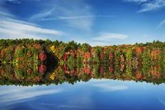 毛刺池塘国家公园秋天新英格兰 库存图片