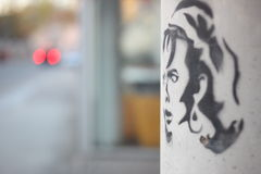 毛发的妇女 免版税图库摄影