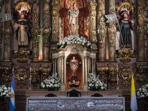 毛发Basilica de Nuestra夫人的del,布宜诺斯艾利斯,阿根廷 免版税库存图片