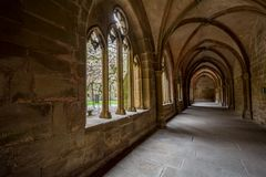 毛尔布龙,德国- 2017年4月14日:从的修道院毛尔布龙 免版税图库摄影