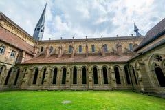 毛尔布龙,德国- 2017年4月14日:从的修道院毛尔布龙 图库摄影