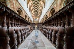 毛尔布龙,德国- 2017年4月14日:修道院的教会 免版税库存照片