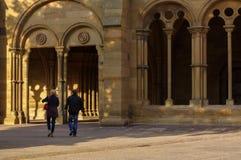 毛尔布龙,德国- MAI 17日2015年:修道院的,一部分哥特式样式房子的联合国科教文组织世界遗产名录站点 库存照片