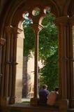 毛尔布龙,德国- MAI 17日2015年:修道院的,一部分gotic样式房子的联合国科教文组织世界遗产名录站点 免版税库存照片