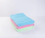 毛巾或毛巾在背景 图库摄影