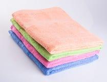 毛巾或毛巾在背景 免版税库存照片