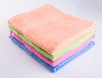 毛巾或毛巾在背景 免版税库存图片