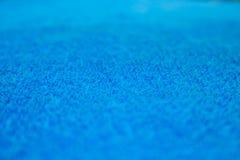毛巾棉花蓝色抽象背景 免版税图库摄影