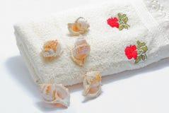 毛巾白色 免版税库存图片