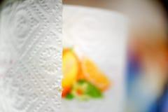 毛巾纸卷关闭 免版税图库摄影
