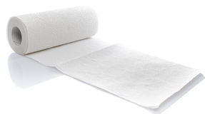 毛巾纸卷 库存照片