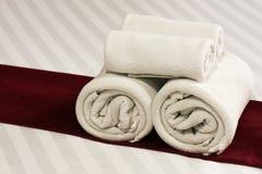 毛巾,旅馆 免版税图库摄影