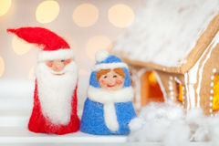 毛毡圣诞节玩具 库存照片