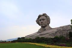 年轻毛泽东雕塑 免版税库存图片