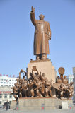 毛泽东雕象  图库摄影