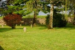 毛特豪森的公墓 免版税库存照片