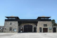 毛特豪森,奥地利;07/26/2015:毛特豪森集中营的外视图 库存图片
