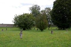毛特豪森-奥地利的公墓 库存照片