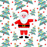 毛皮圣诞老人结构树 库存图片