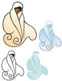 毛皮套的妇女 免版税库存图片