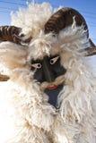 毛皮的狂欢节戴假面具的人在'Busojaras',冬天的葬礼狂欢节  免版税库存图片