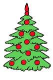 毛皮结构树 皇族释放例证