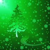 毛皮结构树 库存例证