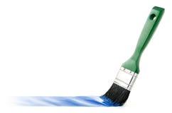 毛笔画线路油漆 向量例证