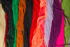 毛纱明亮的colorfull条纹  库存照片