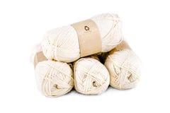 毛线丝球编织的 库存照片