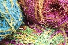 毛线几个丝球  库存图片