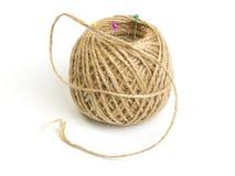 毛线球与针的 库存图片
