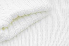 毛线衣白色 库存图片