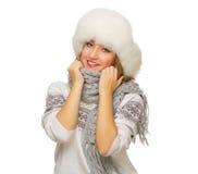 毛线衣的女孩 免版税图库摄影