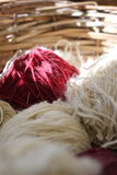 绳索-毛线-篮子 免版税库存照片