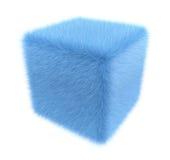 毛茸的蓝色立方体 库存例证