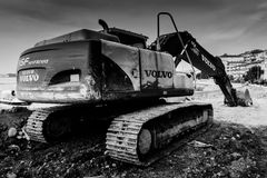 毛虫挖掘机 库存照片