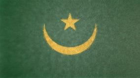 毛里塔尼亚的旗子的原始的3D图象 库存例证
