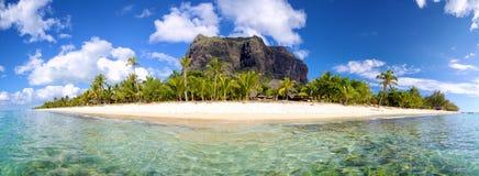 毛里求斯海岛全景 库存照片