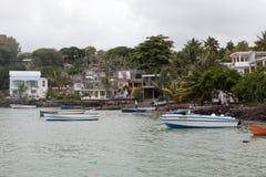 毛里求斯海岛海岸线  免版税库存图片