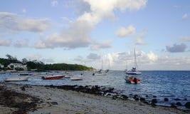 毛里求斯海岛海景  免版税库存图片