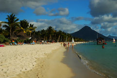 毛里求斯海滨 免版税库存照片