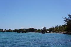 毛里求斯海滩视图 库存图片