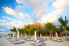毛里求斯海滩 库存图片