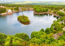 毛里求斯的盛大Bassin火山口湖 库存照片