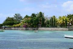 毛里求斯,罗什Noires美丽如画的村庄  图库摄影