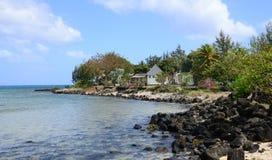 毛里求斯, Pereybere美丽如画的村庄  免版税图库摄影