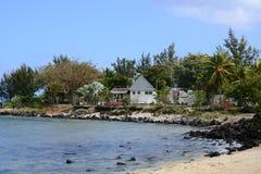 毛里求斯, Pereybere美丽如画的村庄  库存图片